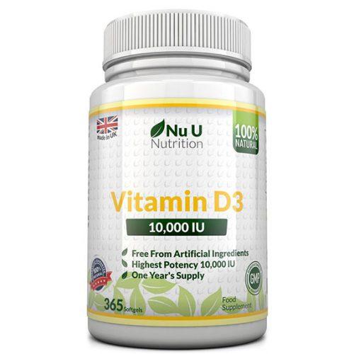 Опаковка на витамин D3. Стандартна опаковка на бранда.