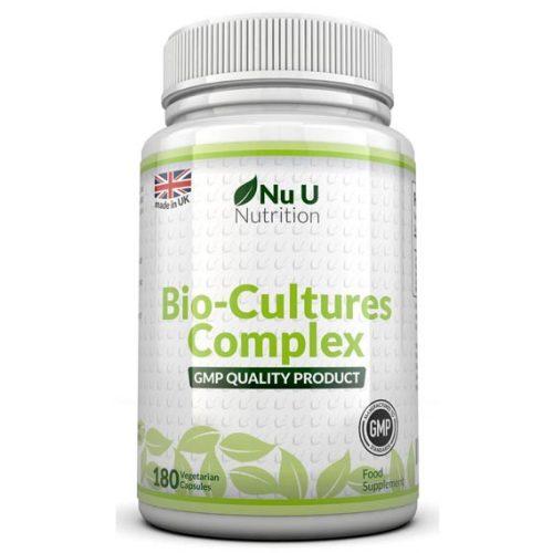опаковка пробиотик със 180 капсули за добро чревно здраве.