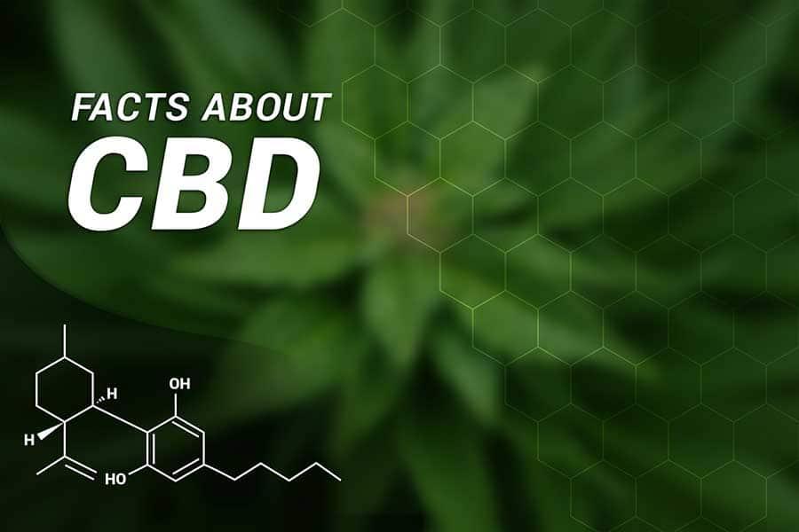 Факти за ползите от CBD конопеното масло, с включена химична формула на съединението.